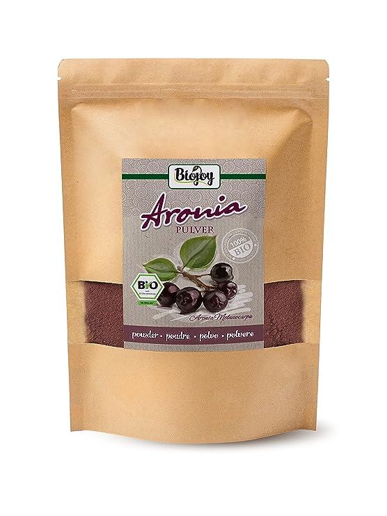 Biojoy Aronia BÍO en polvo | de 100% de prensado natural de las frutas de aronia | sin aditivos artificiales | calidad bío-premium controlada y certificada ...