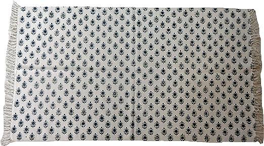 Handicraft Bazar Tapete de algodón de 3 x 5 pies con diseño de ...