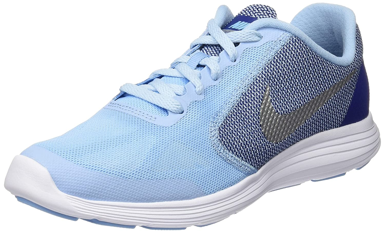 NIKE ' Revolution 3 (GS) Running Shoes B018IPX640 5 M US Big Kid Bluecap/Metallic Silver/Deep Royal Blue