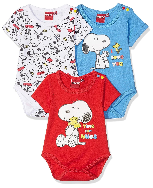 FABTASTICS Snoopy Baby Langarm Body im 3er Pack PNT-3-770 + 772 + 771