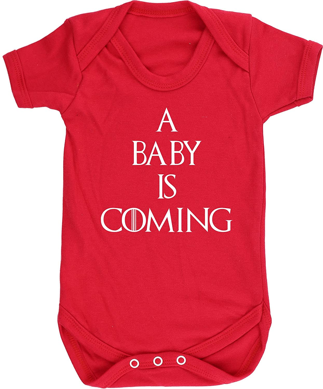 HippoWarehouse A Baby is Coming Chaleco para beb/és Pijama de Manga Corta para ni/ños Unisex