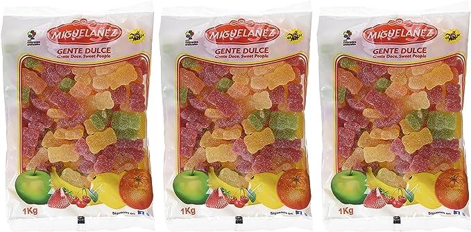Miguelañez Bolsa Osos Grandes Azúcar - 1000 gr - [Pack de 3]: Amazon.es: Alimentación y bebidas