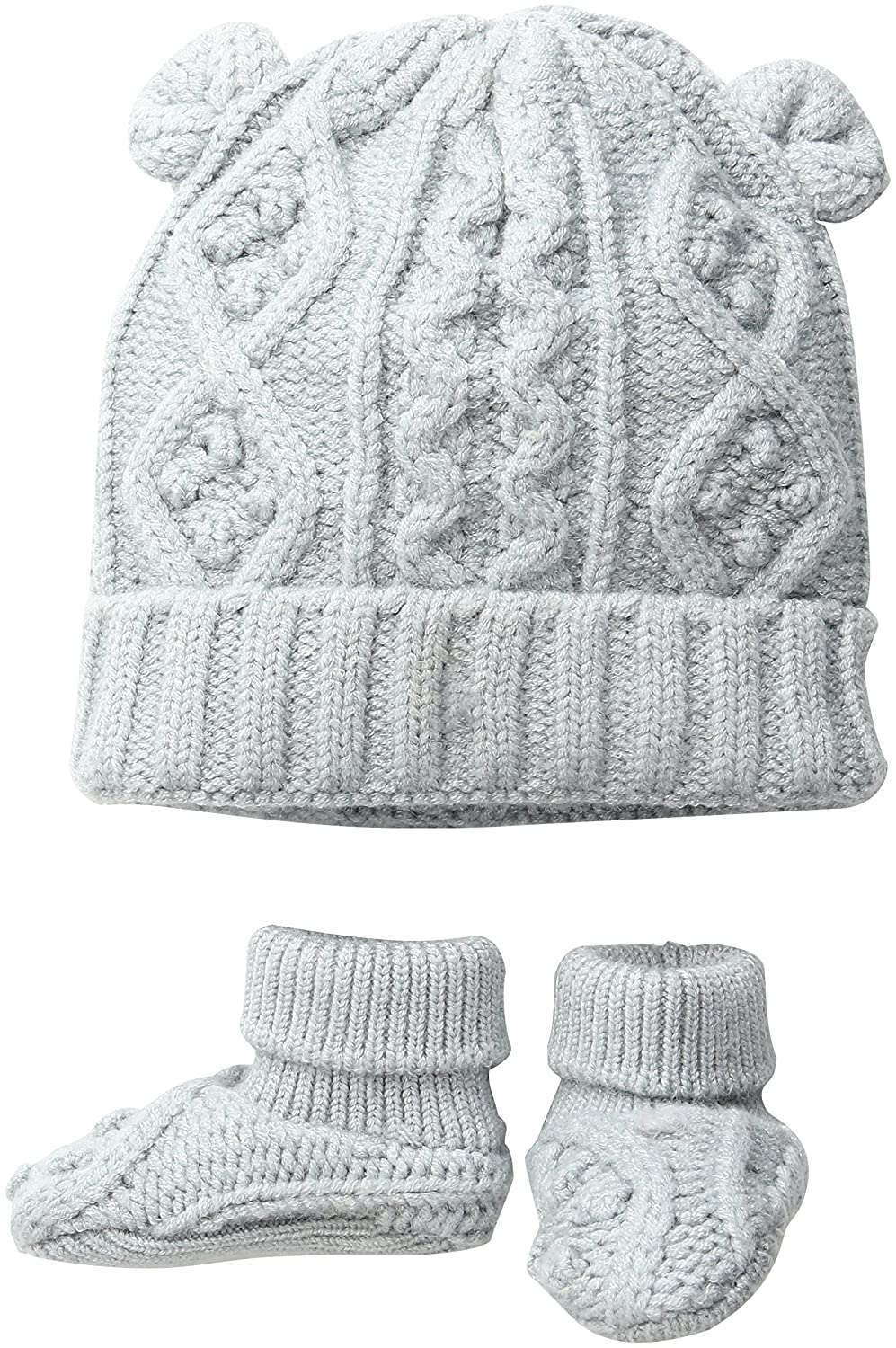 Amazon.com: TOBY Company Baby Nygb Cable Knit Hat and Booties Set ...