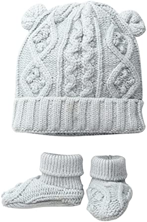fb69e1a8689 Toby   Company Baby Nygb Cable Knit Hat and Booties Set