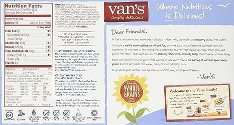 van's frozen waffles nutrition facts