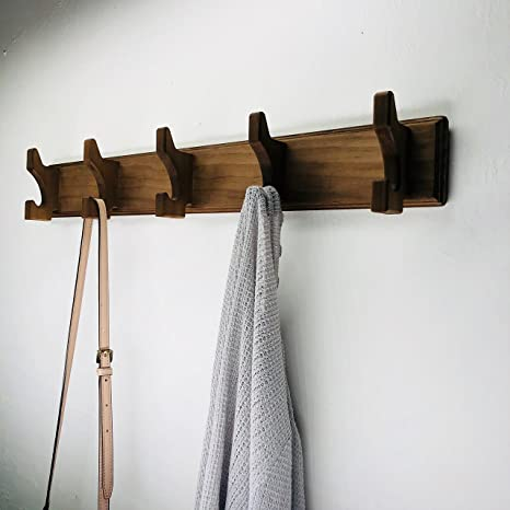 Amazon Yonor Rustic Style Wooden Wall Mounted Coat Hook Rack Adorable Wall Mounted Coat Hook Rack