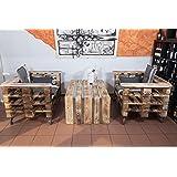 palencia palettenm bel sitzgruppe aus hochwertig gehobelten m belpaletten. Black Bedroom Furniture Sets. Home Design Ideas