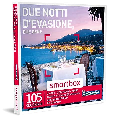 SMARTBOX - Cofanetto Regalo - DUE NOTTI D\'EVASIONE, DUE CENE - 105 ...