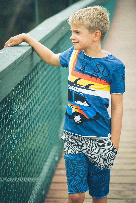 Mini Shatsu Little Boys Vintage Surf Wagon T-Shirt