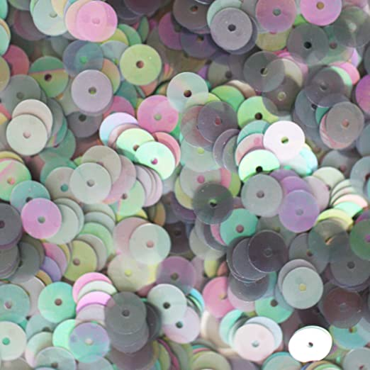 5mm Flat SEQUIN PAILLETTES ~ PINK Metallic ~ Round Disc ~ Made in USA.
