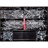 Blindnieten-Sortiment Ø 4mm verschiedene Längen Popnieten Alu/ Stahl 300 Teile