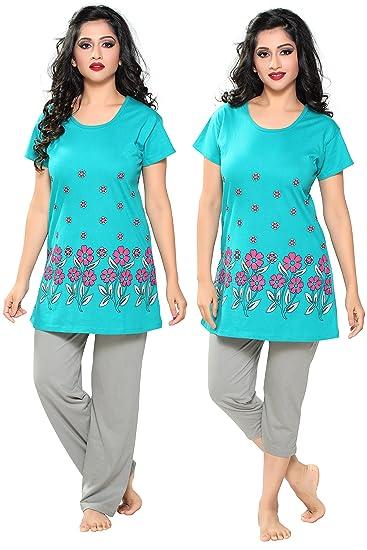 65050f072c3 Boring Dress 3 Piece Nightwear Long Top and Pajama Set Night Suit Nighty