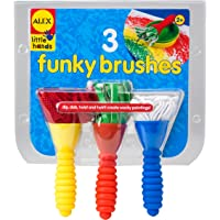 ALEX Toys 3 Funky Brushes - paint brushes Blue, Red, Yellow