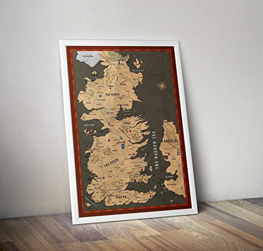 Game of Thrones Poster - Map of Westeros Print - White Walkers ...