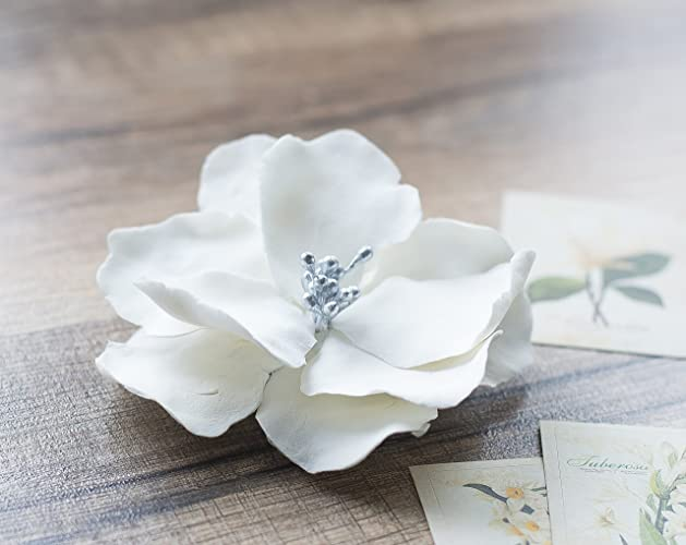 Amazon white wedding flower hair clip bridal flower hair clip white wedding flower hair clip bridal flower hair clip floral hair clip wedding mightylinksfo