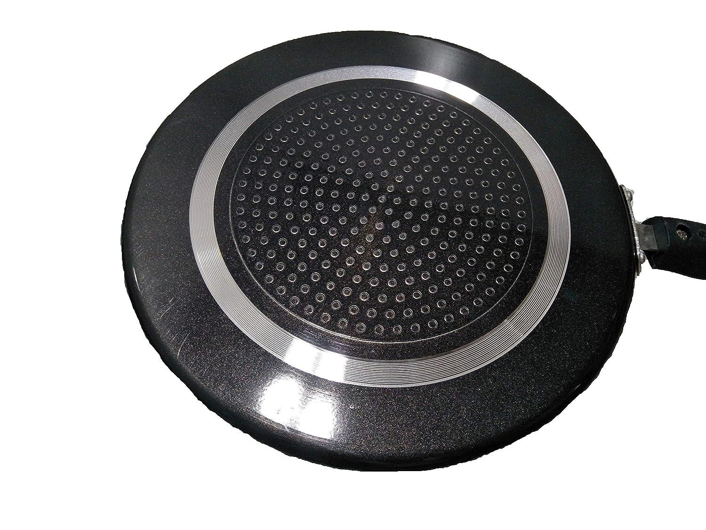 noir avec /épurateur 1 pi/èce et spatule en bois 1 pi/èce 2,6 MM Dosa Tawa antiadh/ésive