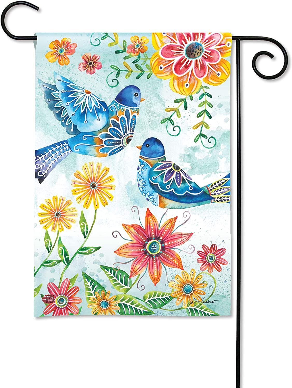 BreezeArt Studio M Happy Bluebirds Decorative Garden Flag – Premium Quality, 12.5 x 18 Inches