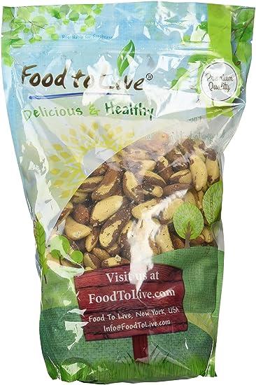 Food to Live Las nueces crudas del Brasil 1.8 Kg