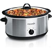 Crock-Pot SCV700-SS ovaal handmatig langzaam fornuis, steengoed, roestvrij