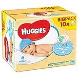 Huggies Salviette Pure - 10 Pacchi da 56 Pezzi