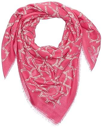 b2e542dba50a Calvin Klein Jeans Joyce - Foulard - Imprimé complet - Femme - Multicolore (Punch  Pink