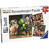 """Ravensburger - Puzzle con diseño de """"Toy Story 3"""", 3 x 49 piezas (09297 0)"""