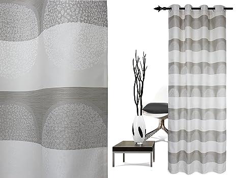 3c29f64afc593f blickdicht gewebter Ösenschal Lounge von deko trends - moderne  Querstreifenoptik mit hochwertigem Effektgarn - Markenqualität made in  Germany - erhältlich ...