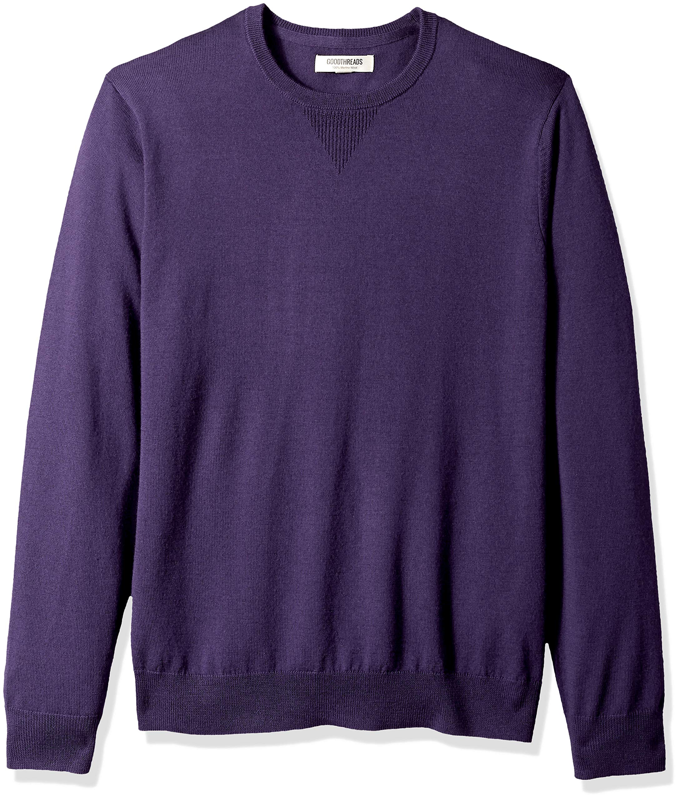 Goodthreads Men's Merino Wool Crewneck Sweater, deep Purple, Small by Goodthreads