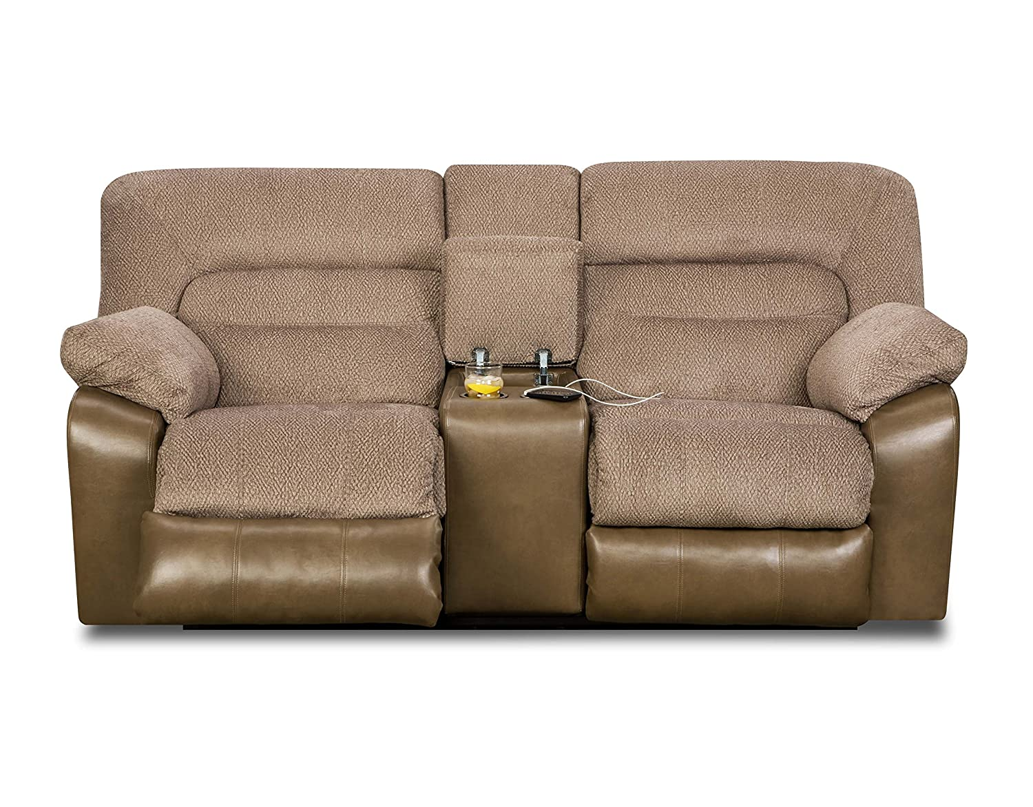 Amazon.com: Simmons Upholstery 50310-63 Tonto Taupe Motion ...