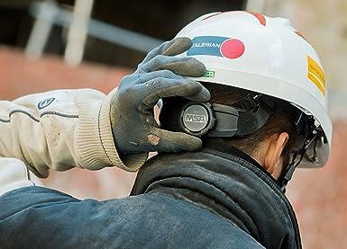MSA V-Gard 930 | Casco de Seguridad Industrial | DIN EN 397 | con Ventilación y con Suspensión de Rueda de Cremallera Fas-Trac | Incluyendo Gafas | Color: ...