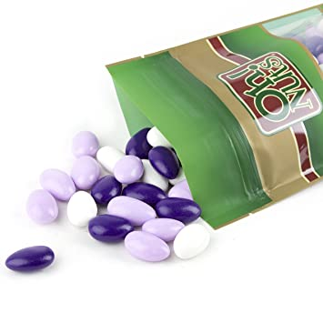 jordan almonds white purple and lavender super fine soft thin sugar shell on