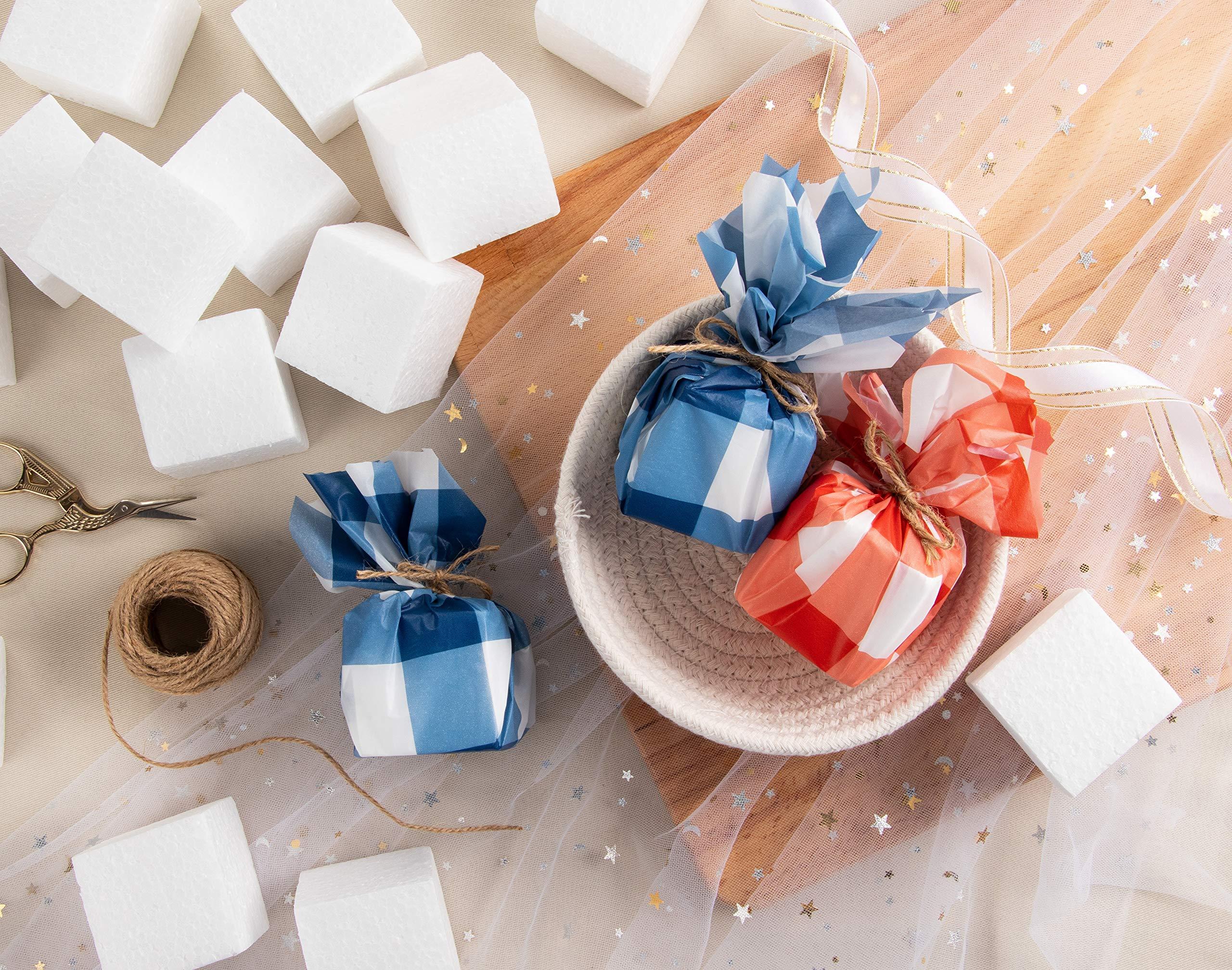 Craft Foam Blocks - 36-Piece Polystyrene Foam Blocks for Crafts and Modeling, 2 x 2 x 2 Inches Blank Craft Foam by Genie Crafts (Image #2)