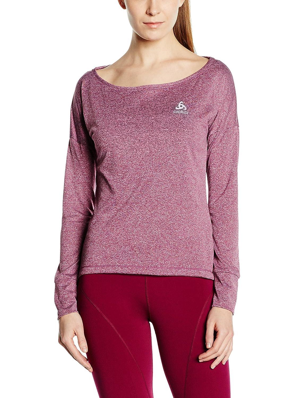 Odlo Tebe L S T-Shirt Damens - Magenta lila Melange
