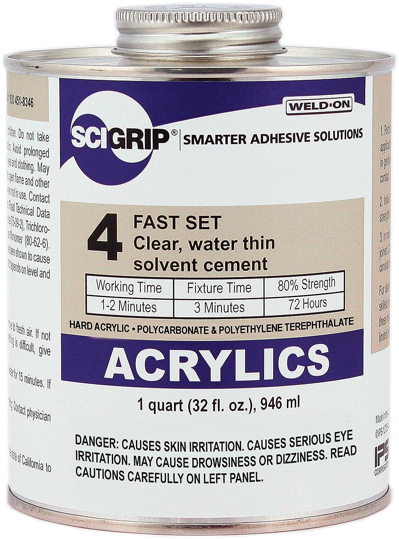 Amazon.com: SCIGRIP - Adhesivo para soldadura n.º 4, 4 onza ...