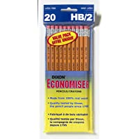 Dixon 12058 Number 2 HB Economy Pencils, Bagged, 20-Count, Yellow