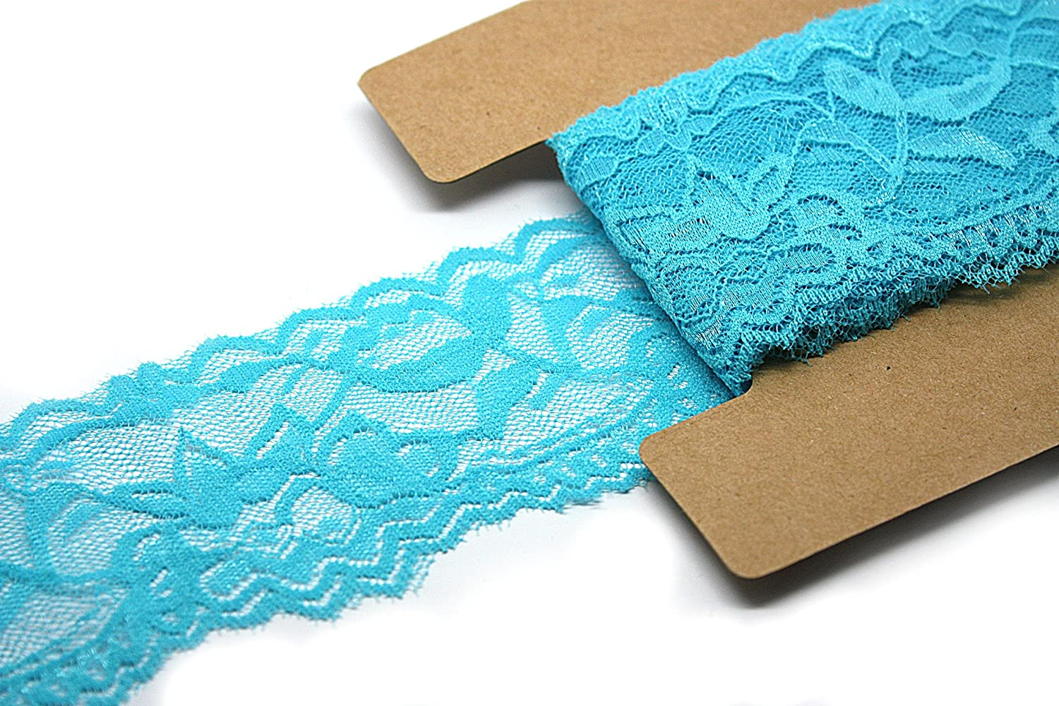 Trim Lace for Headbands Garters Purple Stretch Lace Elastic 2 Inch Wide 10 Yards
