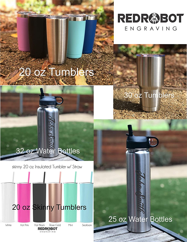 Bridesmaid Gift Water Bottle Stainless SKINNY Tumbler Personalized Engraved Tumbler Groomsman Gift Groomsman Tumbler