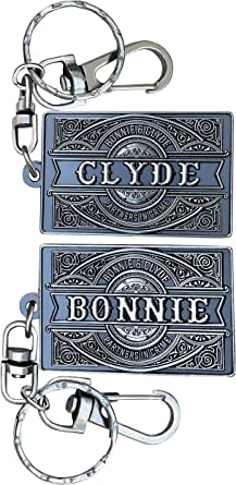 BadBananas - Keychains for Boyfriend and Girlfriend, Husband and Wife - Bonnie & Clyde - His And Her Keychains - Gifts For Long Distance Relationships - Set of 2 - Couples or Best Friend Gifts