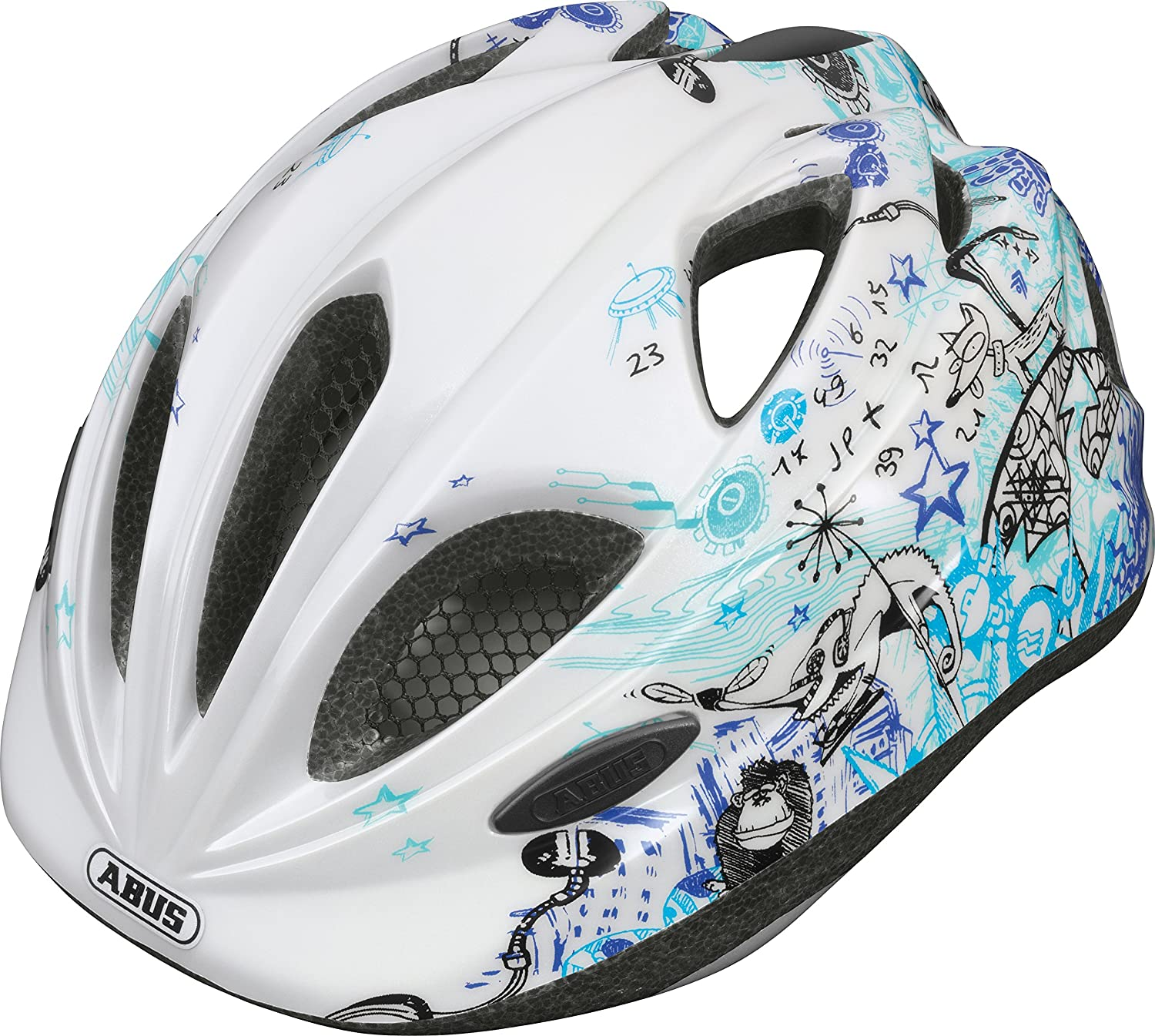 Abus Fahrradhelm Super Chilly Scribble Blue 46 52 cm 3 Amazon Sport & Freizeit