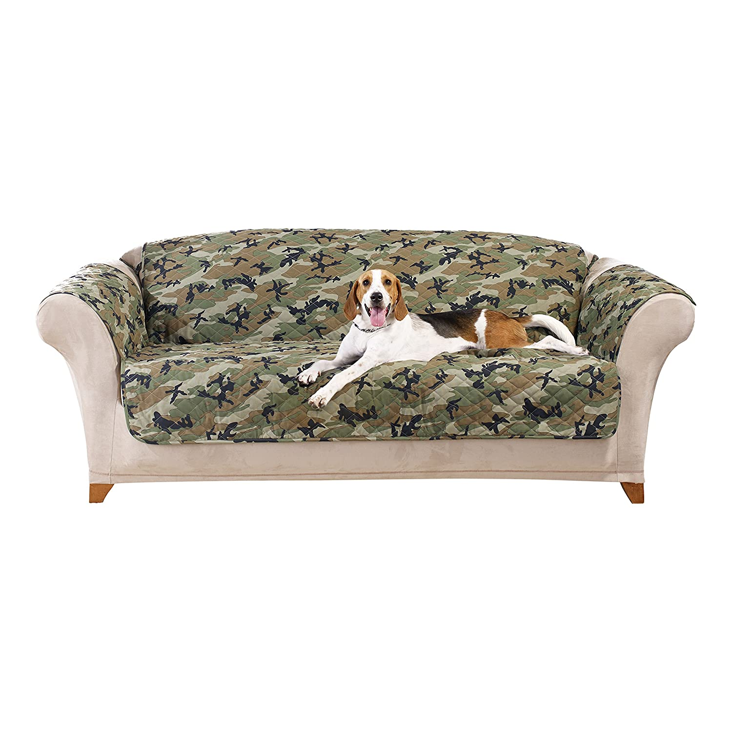 Amazon Sure Fit Camouflage Pet Sofa Slipcover Green
