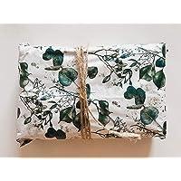 InsideMyNest Eucalyptus Botanical Tissue Paper Sheets 30x20 Gift Wrap Box Filler (20)