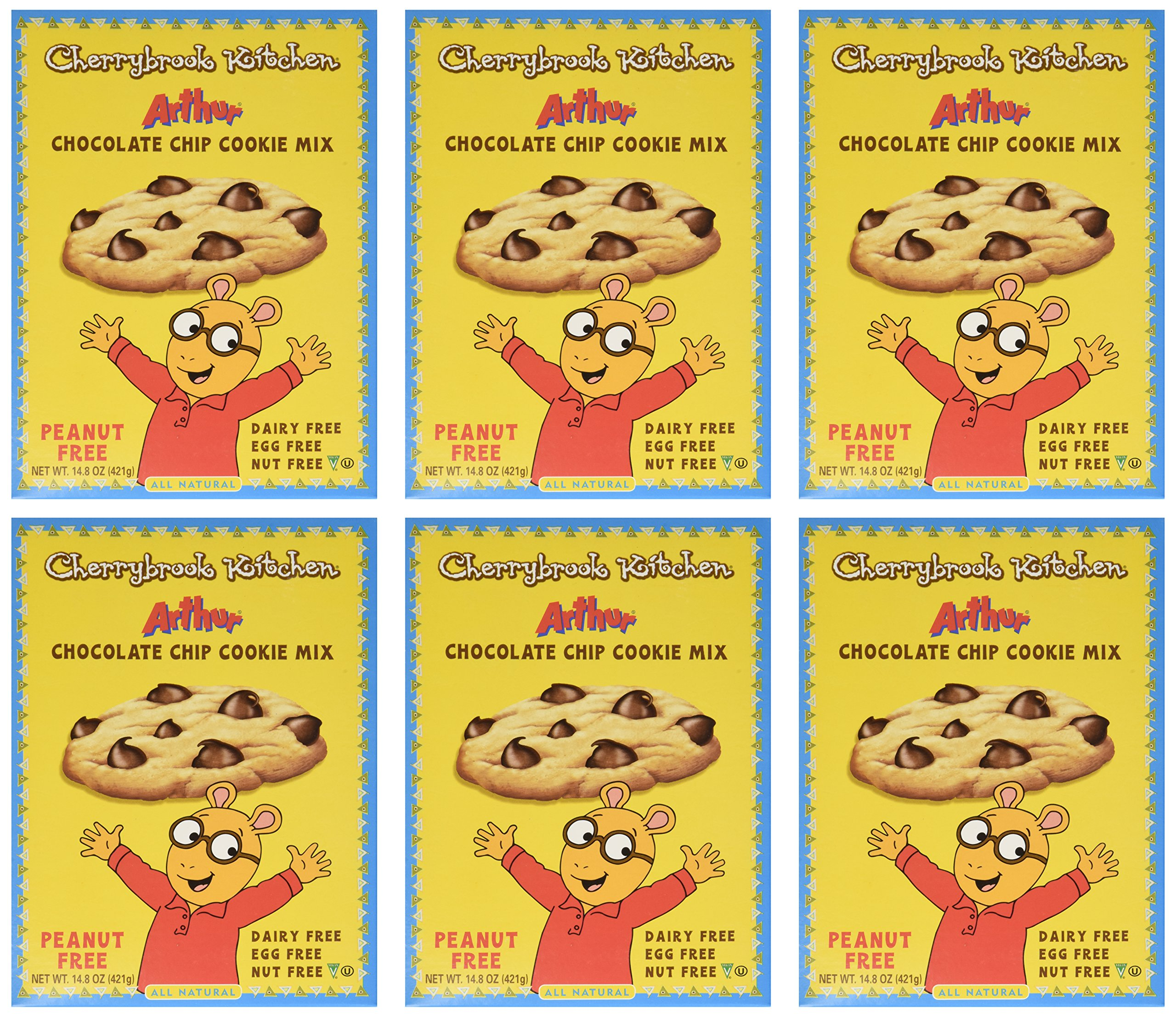 Cherrybrook Kitchen Arthur Chocolate Chip Cookie Mix, 14.8 oz (Pack of 6) by Cherrybrook Kitchen