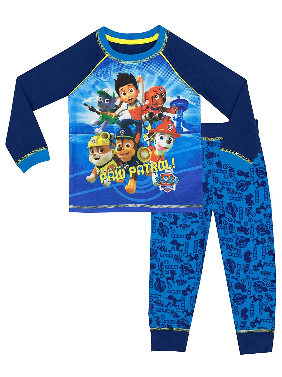 Paw Patrol Boys Ryder Chase Marshall Pyjamas Ages 18 Months to 6 Years