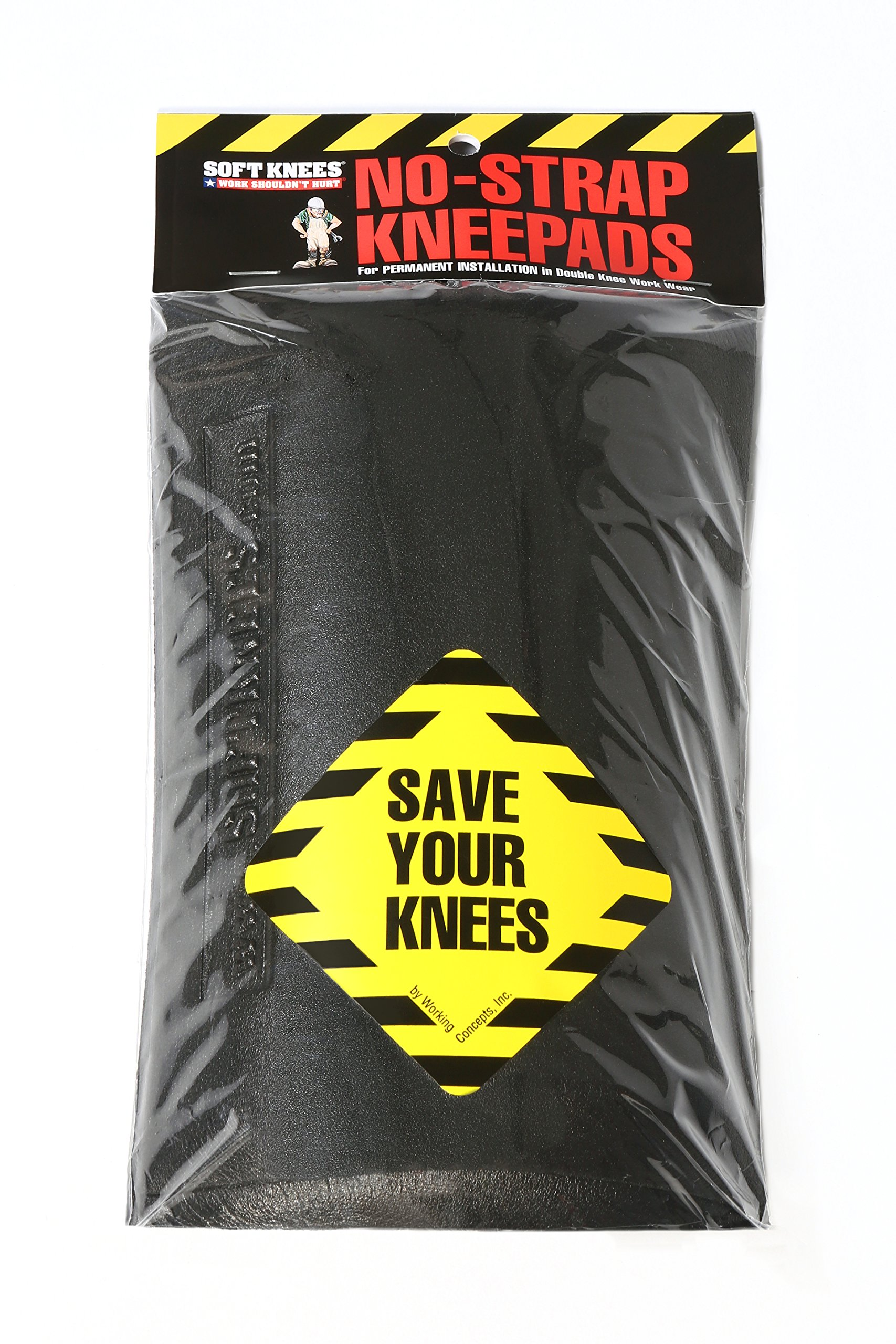 1010 Soft Knees No Strap Knee Pads - Inserts 6'' x 9''