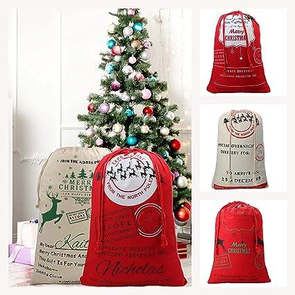 Personalised Any Name Santa Sack Christmas Reindeer Xmas Bag Stocking 15