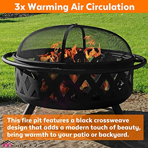 36″ Outdoor Fire Pit Set
