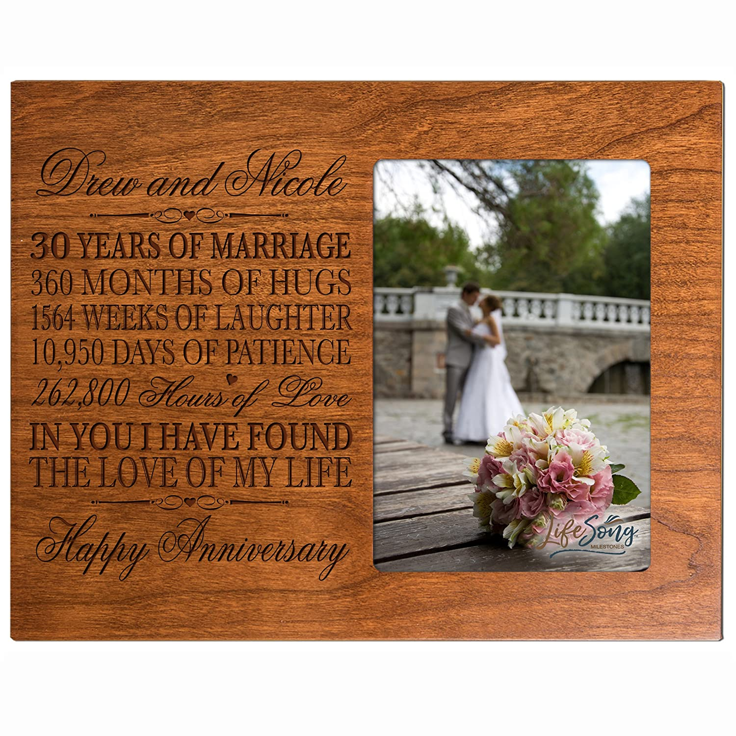 30th Anniversary Gifts For Couple 30 Year Wedding Anniversary Gifts