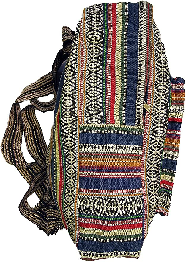 Details about  /Fabric Backpack Indian Nepal Retro Woven Hippie Vintage Folklore Boho BT17