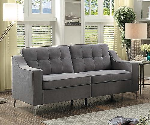 Homelegance Murana Fabric Sofa, Gray
