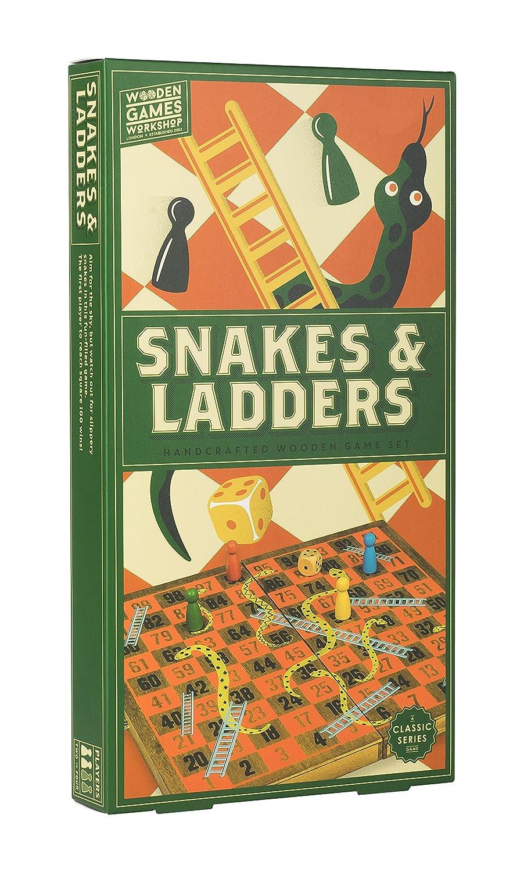 Professor Puzzle wgw1548 Workshop Schlangen und Leitern aus Holz Spiele